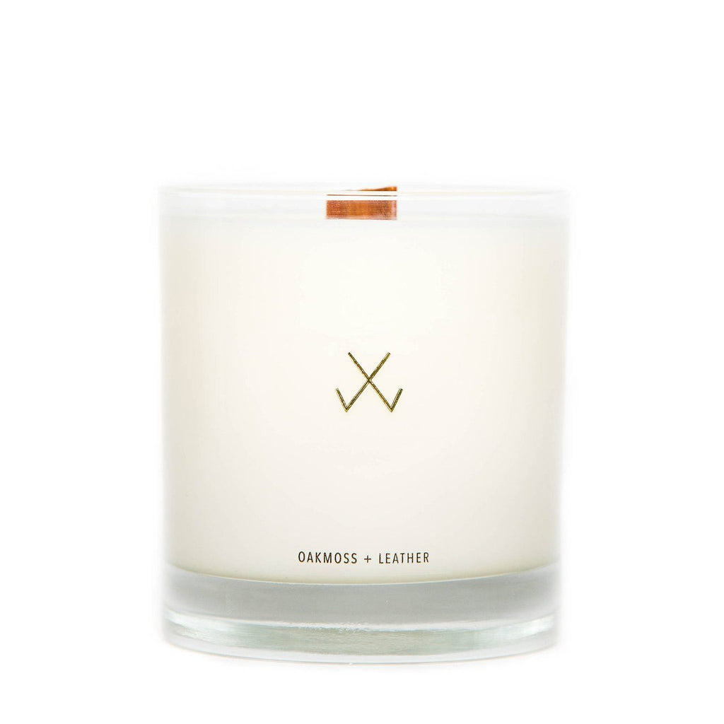 Oak Moss + Leather Scented Candle