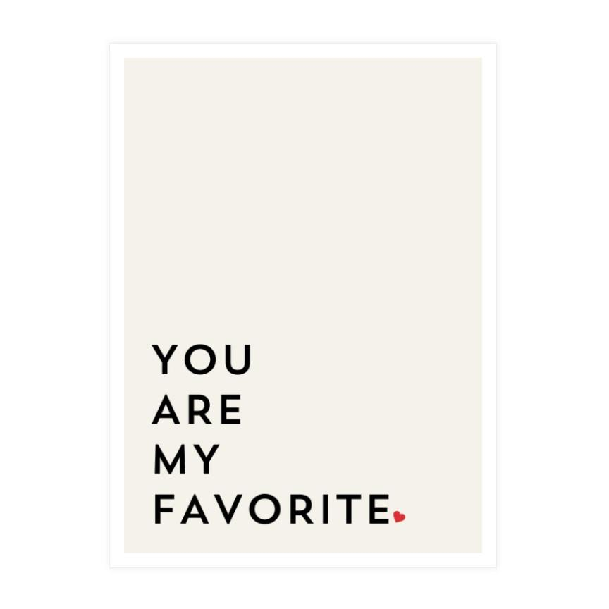 You Are My Favorite Wall Art Wall Decor Society 6