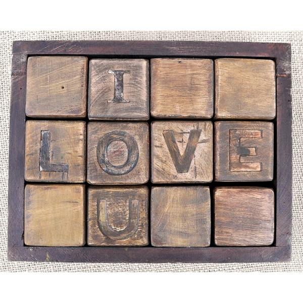 I Love You Blocks  Sugarboo Accessories