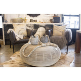 Rattan Round Table  Texture Imports Coffee Table