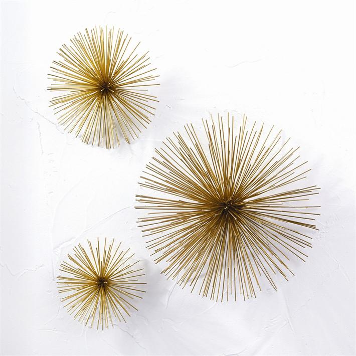 Brass Flower Sculptures  Two's Company Wall Decor - 2