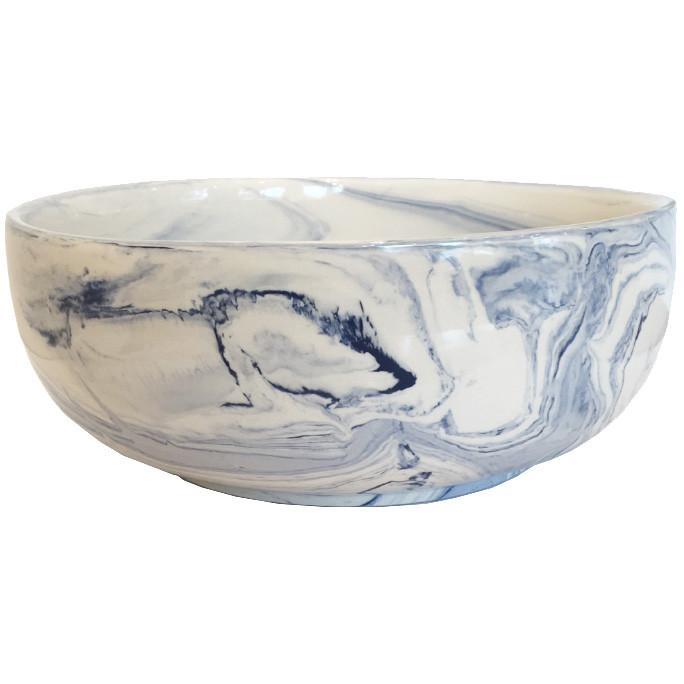 Terre Melee Blue Porcelain Bowl Large Two's Company Bowls - 2