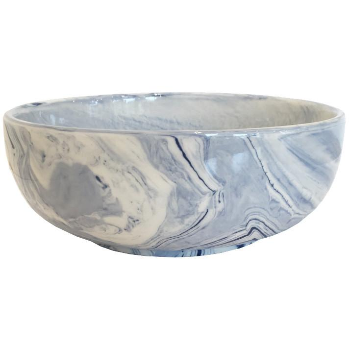 Terre Melee Blue Porcelain Bowl Small Two's Company Bowls - 3
