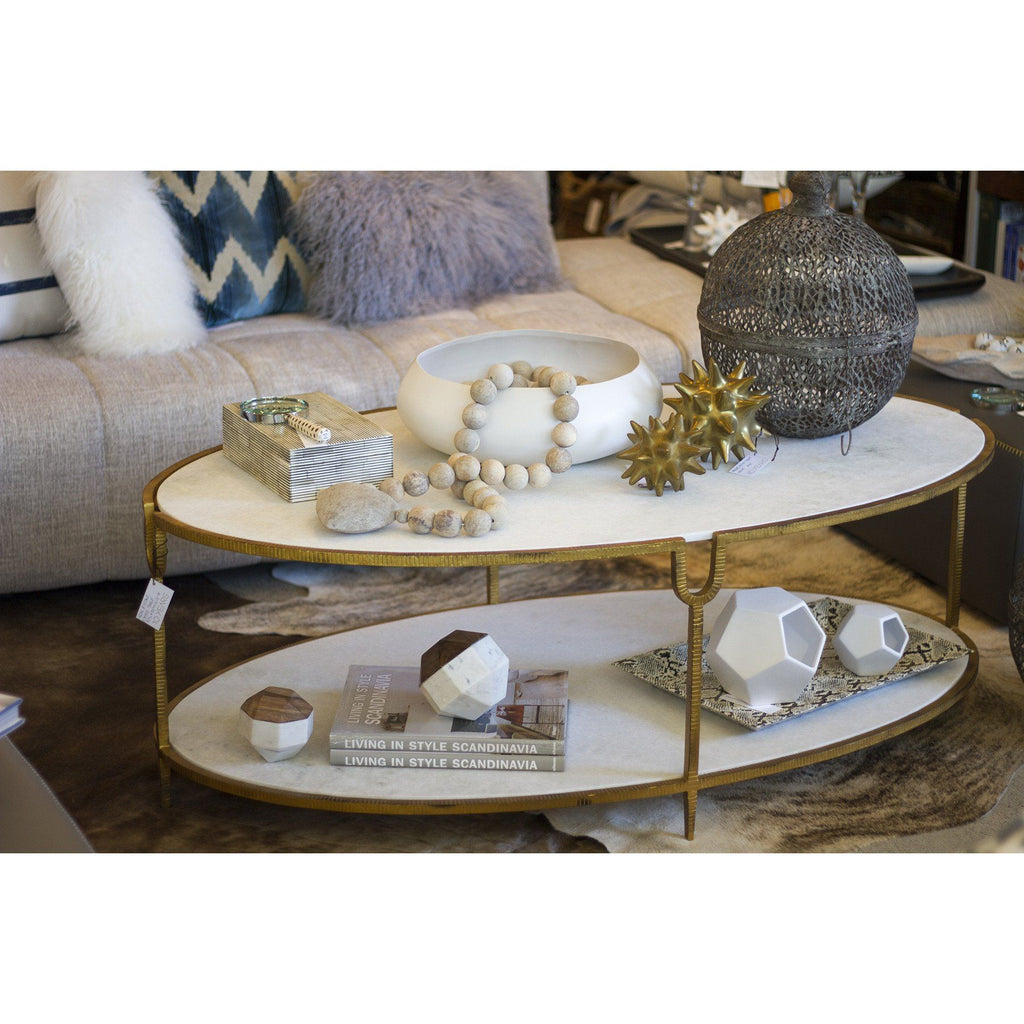 Global Views Iron And Stone Coffee Table Shop Vanillawood