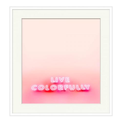 Live Colorfully Wall Art