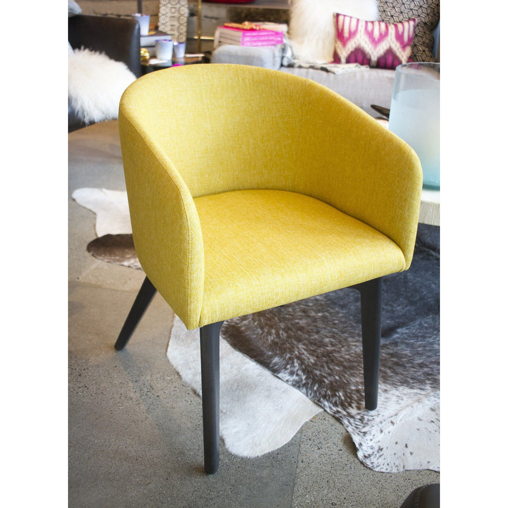 eames yellow ray charles dsr fiberglas chair and by