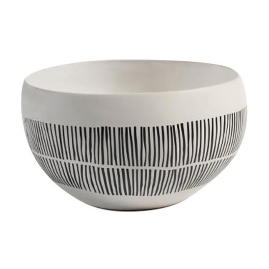 Portofino Ceramic Bowl Bowls Zodax Medium