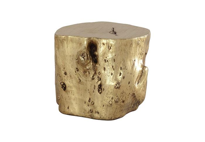 Log Side Table Side Table Phillips Collection Gold