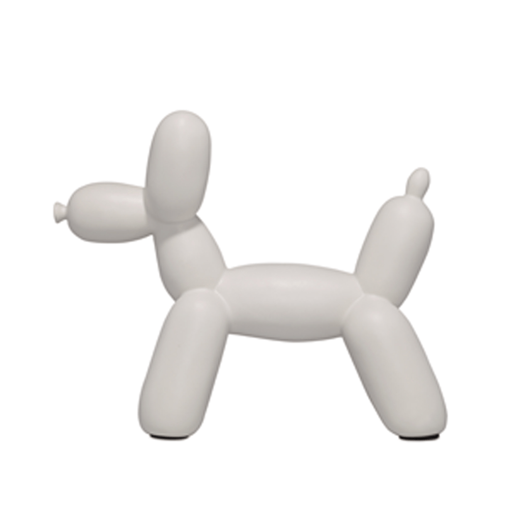 Ceramic Single Color Balloon Dog Bookend Accessories Imm Living White