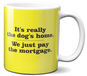 It's really the dog's home We just pay the mortgage