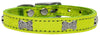 Lime - Bella Sparkles Genuine Leather Metallic and Crystal Dog Collar