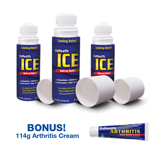 ICE Roll-On & Arthritis Cream Combo Pack