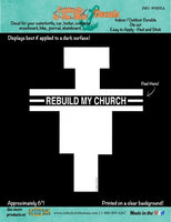 Rebuild My Church Decal