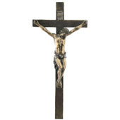 Bronze wall Crucifix