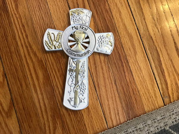 My First Communion Cross two-tone