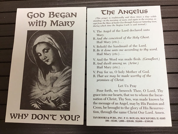 The Angelus prayer card