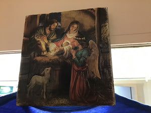 Nativity plaque with angel
