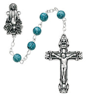 Blue splash Rosary