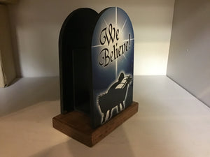 We Believe letter holder