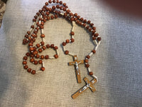 Corded Rosary with Wooden Crucifix