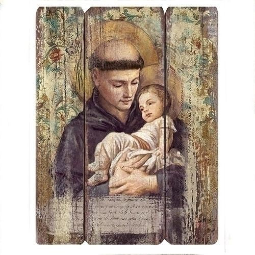 "15"" St Anthony wall plaque"