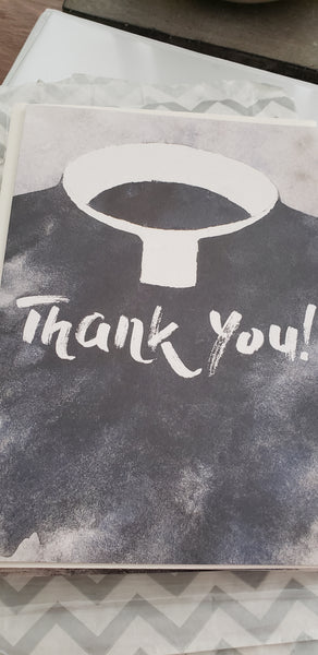 Priest Collar Thank you card Tom Yao