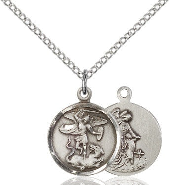 St Michael - Round- Sterling Silver
