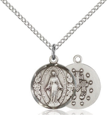 Miraculous Medal - Round-  Sterling Silver