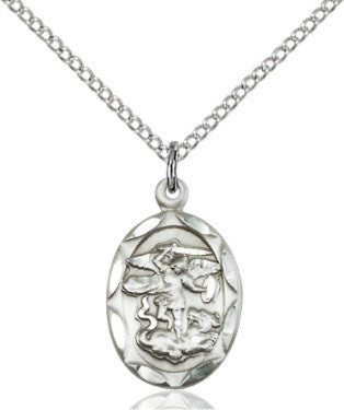 St Michael - Oval - Sterling Silver