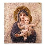 Bourguereau Madonna and Child Icon Plaque