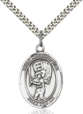 St Christopher Baseball  Medal