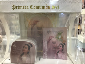 Spanish Communion Set , Hard cover boxed
