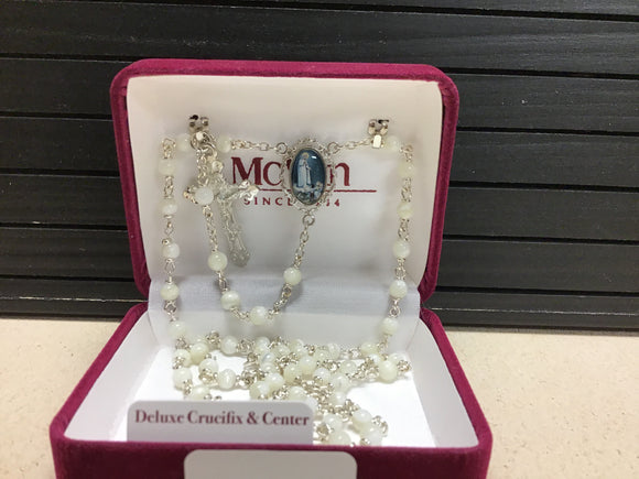 Mother of Pearl rosary With Our Lady of Fatima Center