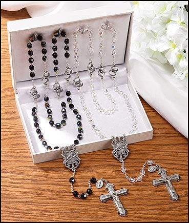Wedding Rosary Gift Set