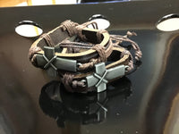 Cross leather cord bracelets