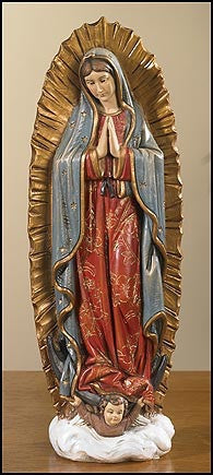 "9""  Our Lady Of Guadalupe"