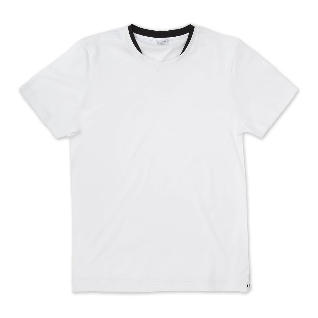 JERSEY T-SHIRT WITH DOUBLE COLLAR DETAIL