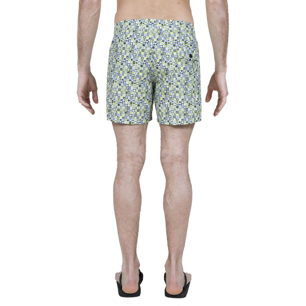 LEMON PRINT ELASTICATED MID-LENGTH SWIM SHORT