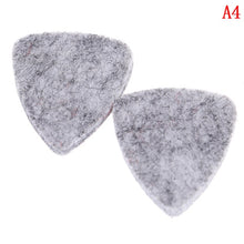 Load image into Gallery viewer, 2Pcs  31mm * 26mm Ukulele soft felt picks plectrum personalized ukelele accessories useful