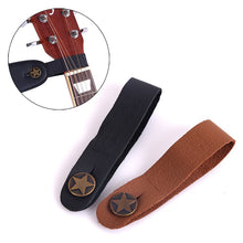 Load image into Gallery viewer, Guitar Neck Strap Guitar Strap Leather Head Belt Holder Button Safe Lock Ukulele Bass Folk Acoustic Electric Guitar Accessories
