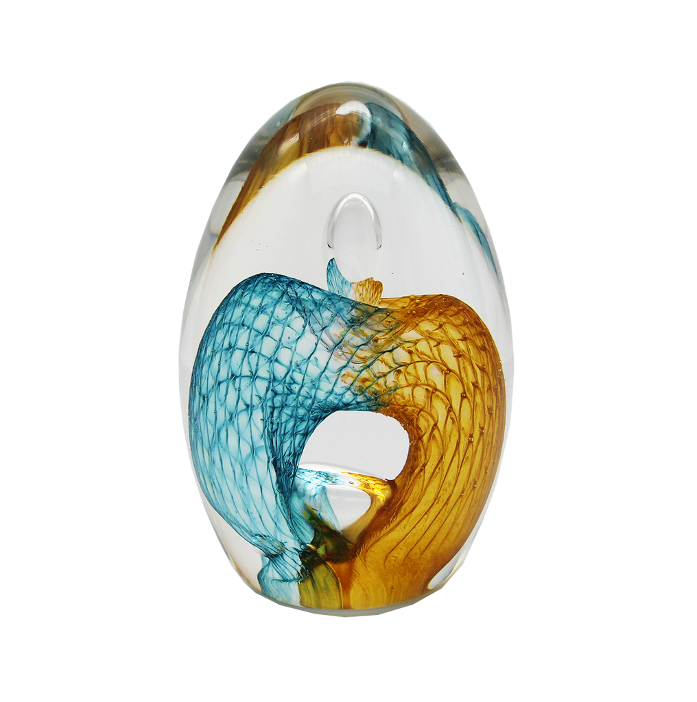 Egg Shaped Paperweight - Glass Art - Kingston Glass Studio - Blown Glass - Glass Blowing