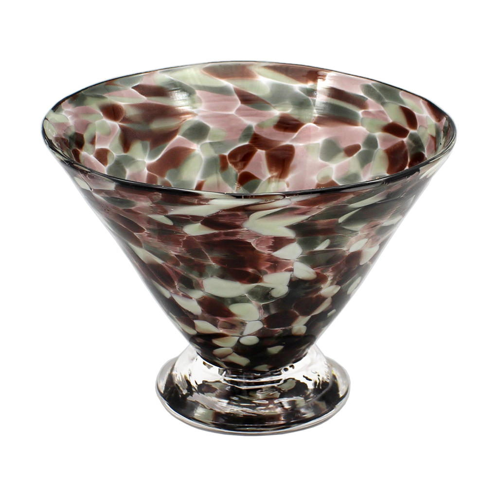 Neutral Speckle Dessert Cups - Glass Art - Kingston Glass Studio - Blown Glass - Glass Blowing