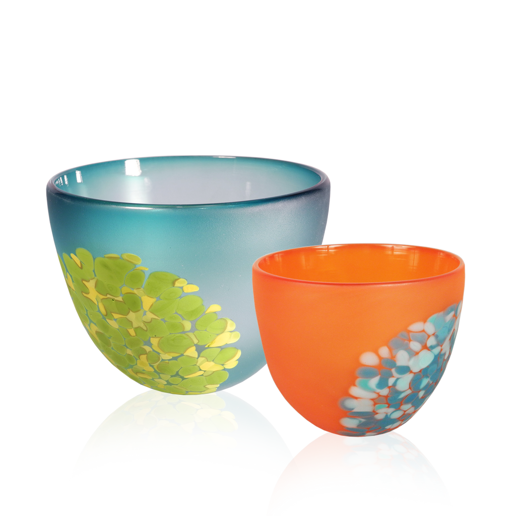 Bright Flava Bowls - Glass Art - Kingston Glass Studio - Blown Glass - Glass Blowing