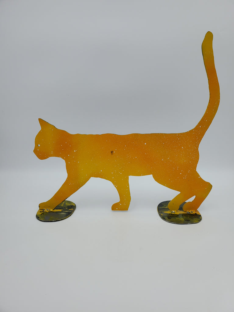 Cat on the Prowl - Glass Art - Kingston Glass Studio - Blown Glass - Glass Blowing