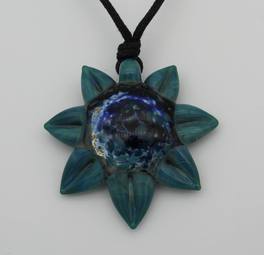 Sunflower Pendants - Glass Art - Kingston Glass Studio - Blown Glass - Glass Blowing