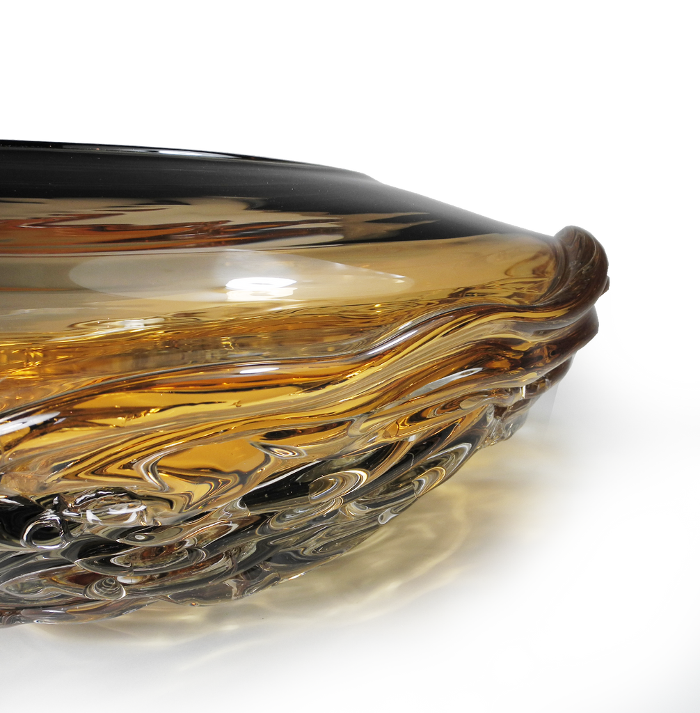 Ripple Wave Bowls - Glass Art - Kingston Glass Studio - Blown Glass - Glass Blowing