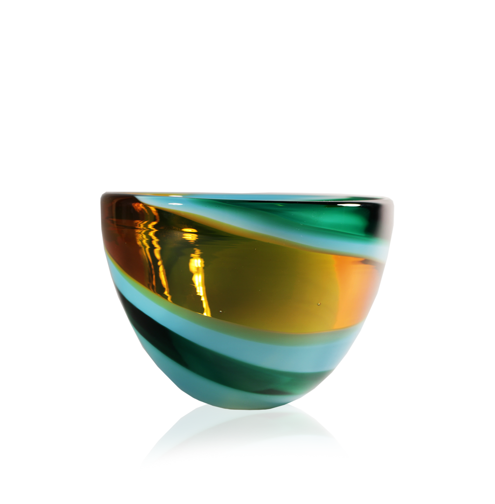 Swirl Bowls - Glass Art - Kingston Glass Studio - Blown Glass - Glass Blowing