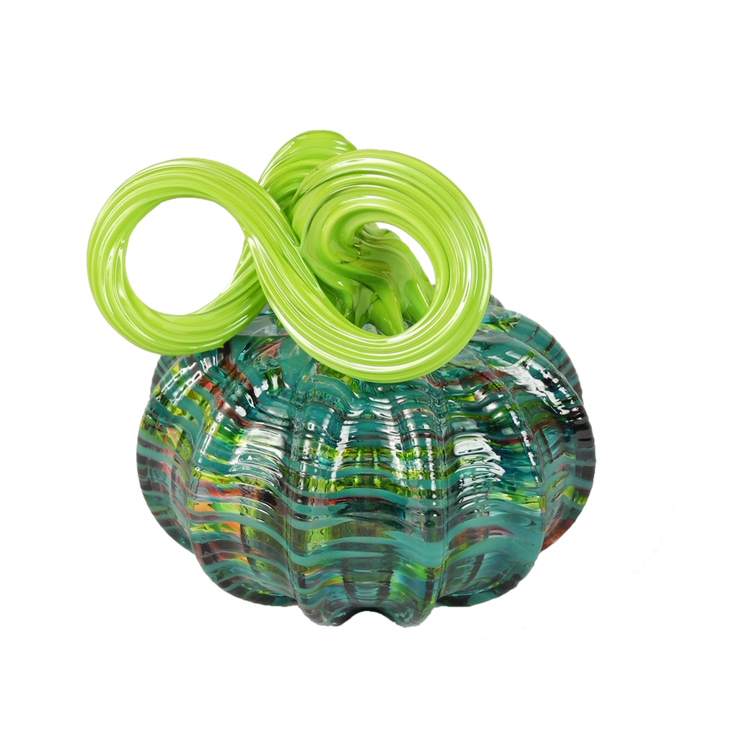 Pumpkins with Green Tops - Glass Art - Kingston Glass Studio - Blown Glass - Glass Blowing
