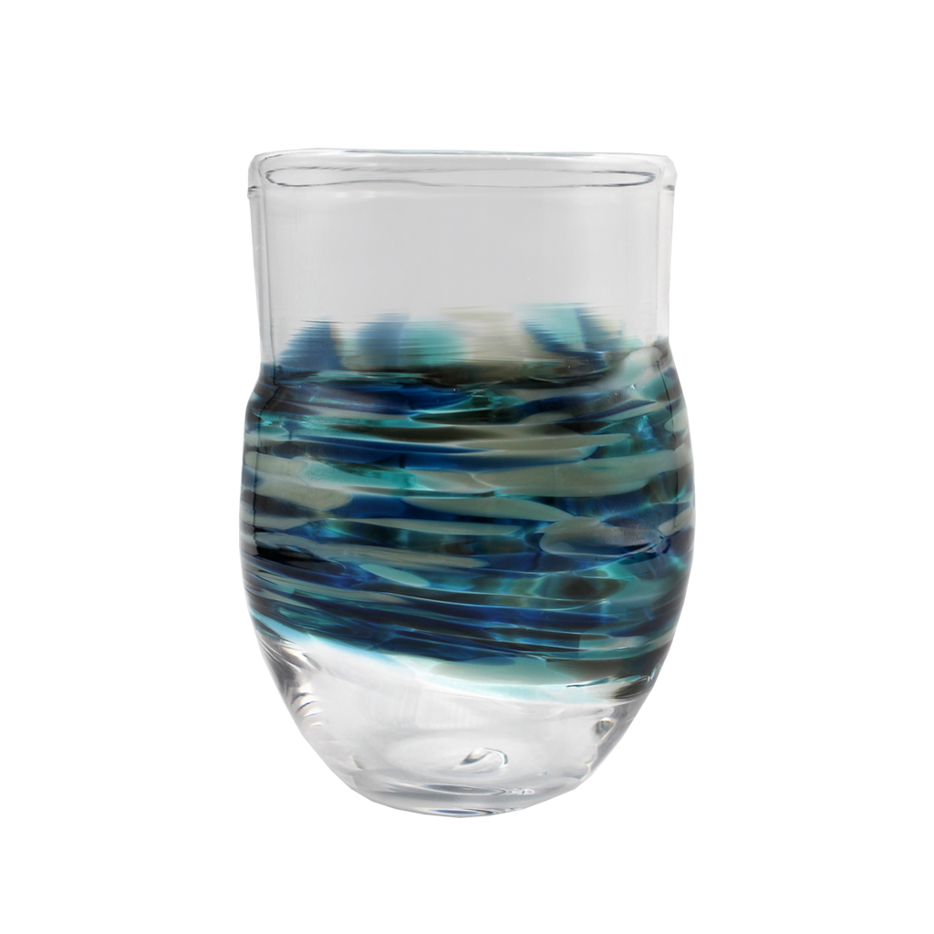Neutral Wrap Cup - Glass Art - Kingston Glass Studio - Blown Glass - Glass Blowing