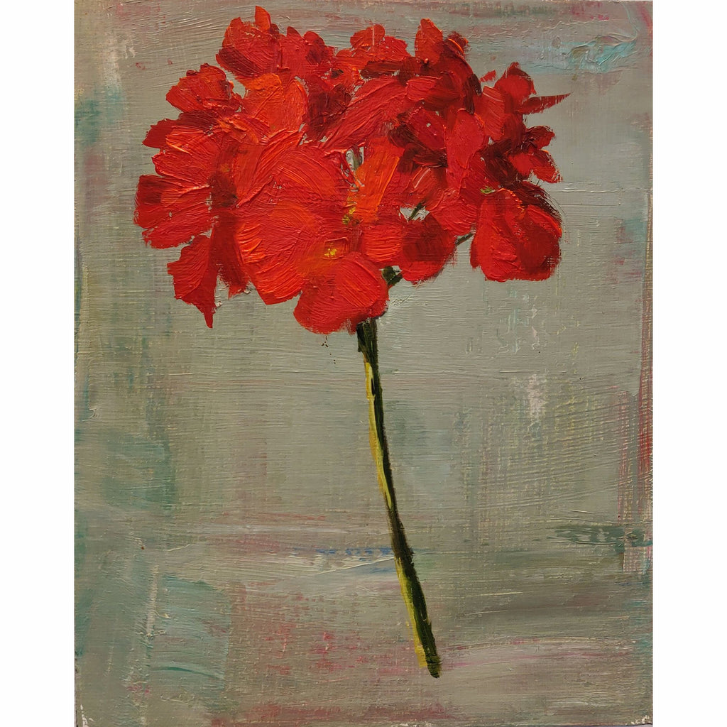 Red Geranium (tall) - Glass Art - Kingston Glass Studio - Blown Glass - Glass Blowing